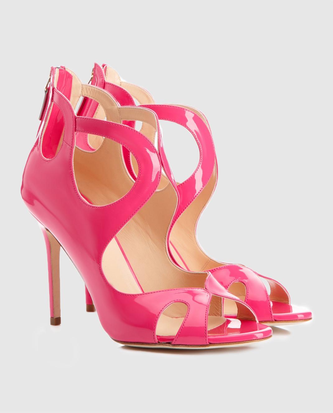 Cerasella Розовые босоножки из лакированной кожи FABIOLAVERNICE изображение 3