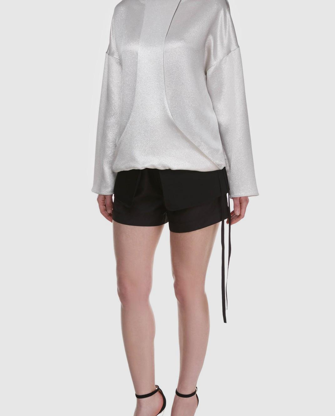 Valentino Серебристая блуза с длинным рукавом PB0AE2R53VF изображение 2
