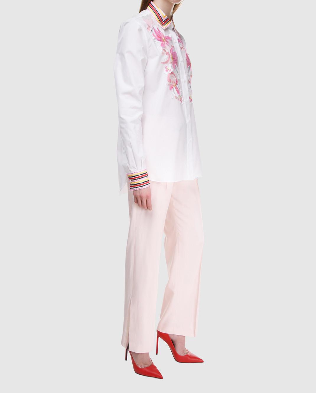 Ermanno Scervino Розовые брюки D326P307CQN изображение 2