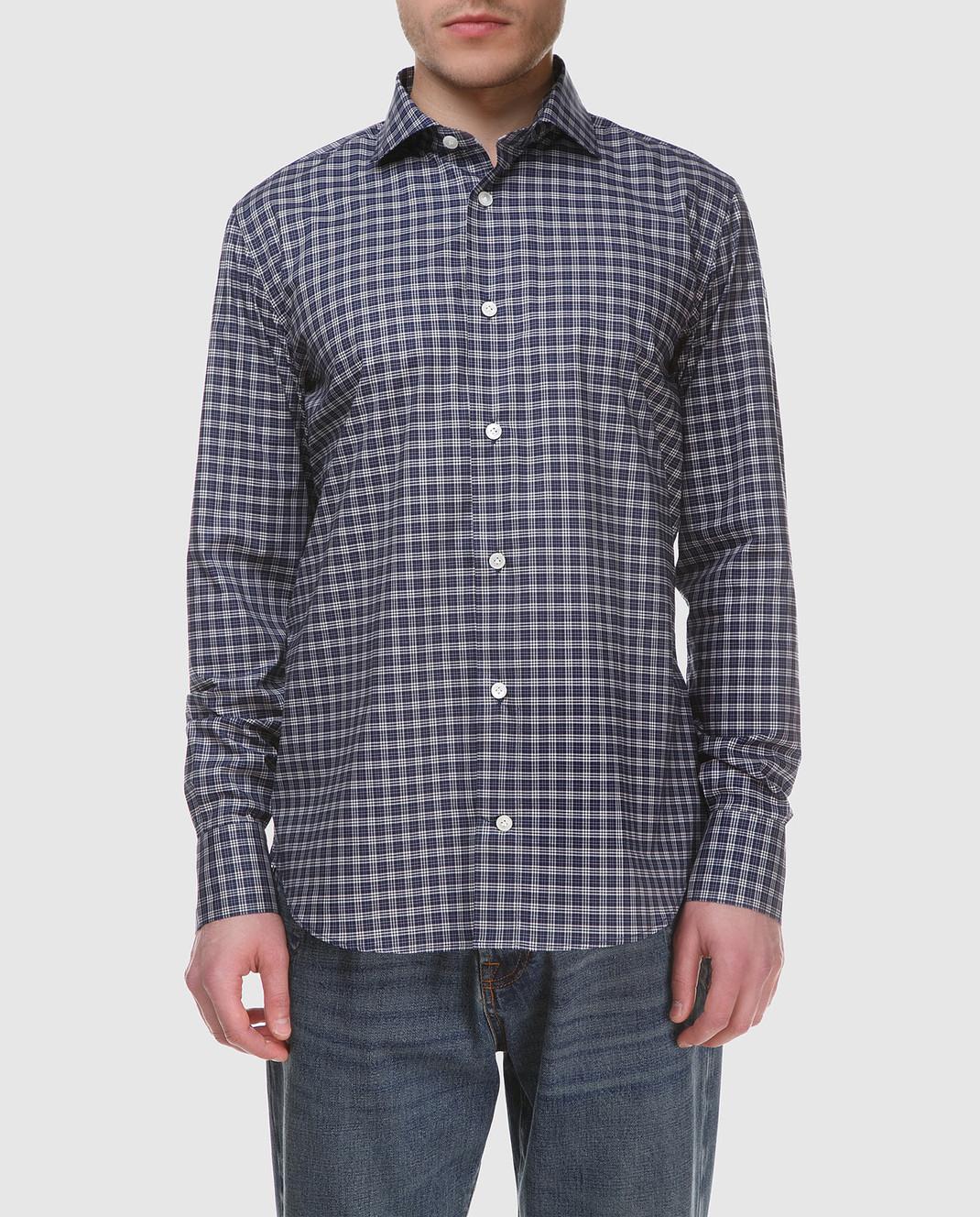 Eleventy Темно-синяя рубашка 979CA0001CAM24015 изображение 3