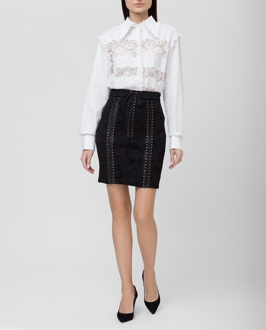 Dolce&Gabbana Черная юбка F4BIHTFJRCP изображение 2