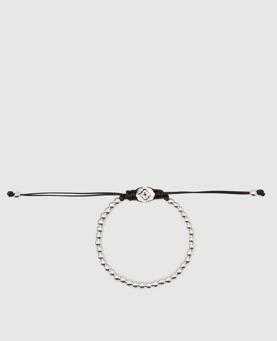 Серебристый браслет из латуни