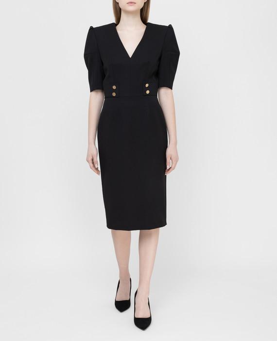 Черное платье из шерсти hover