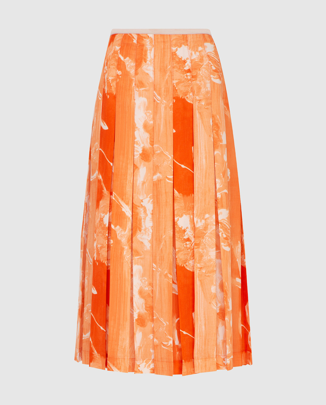 Victoria Beckham Оранжевая юбка SKMID3313