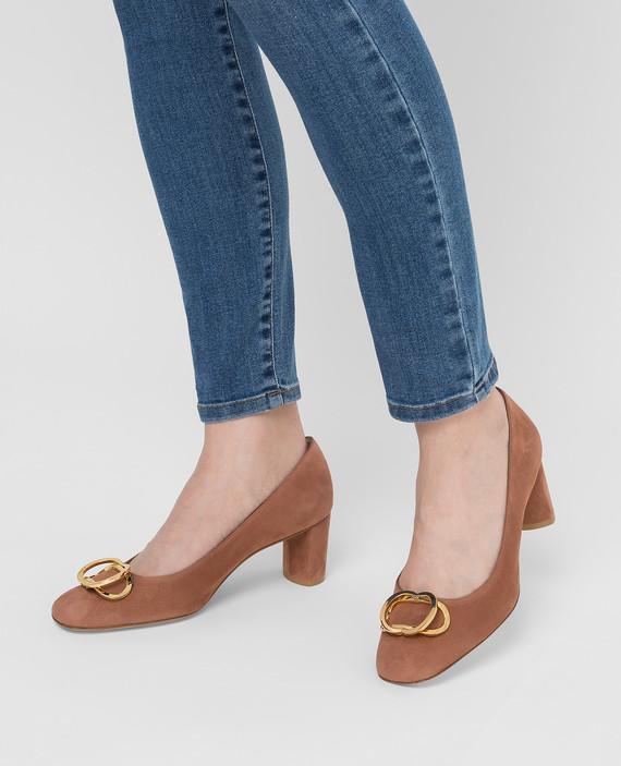 Коричневые замшевые туфли hover
