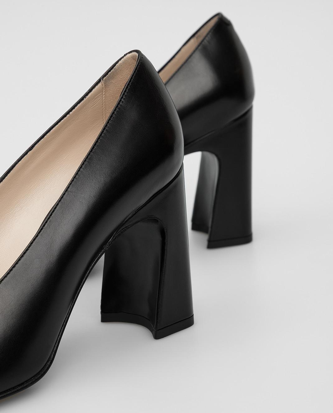 Tods Черные кожаные туфли изображение 5