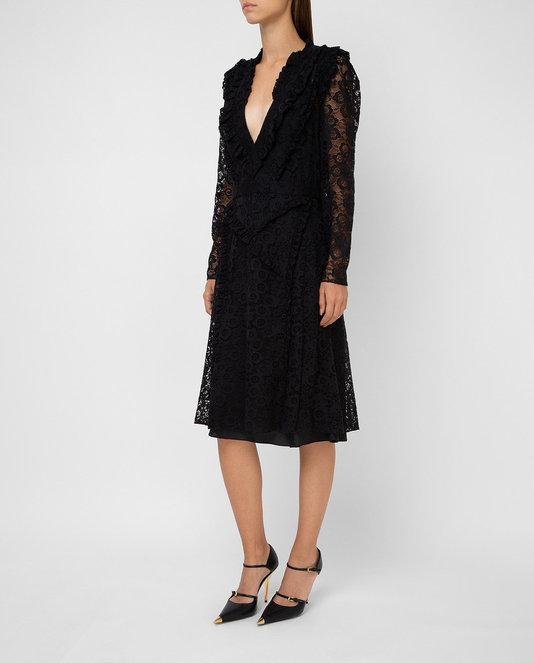 Altuzarra Черное платье 318316795 изображение 3