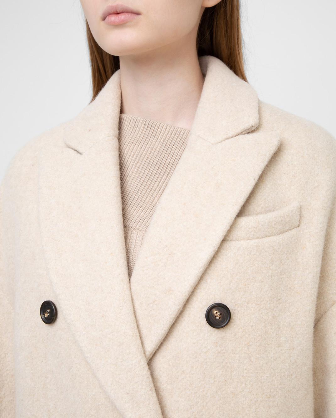 Brunello Cucinelli Светло-бежевое пальто изображение 5