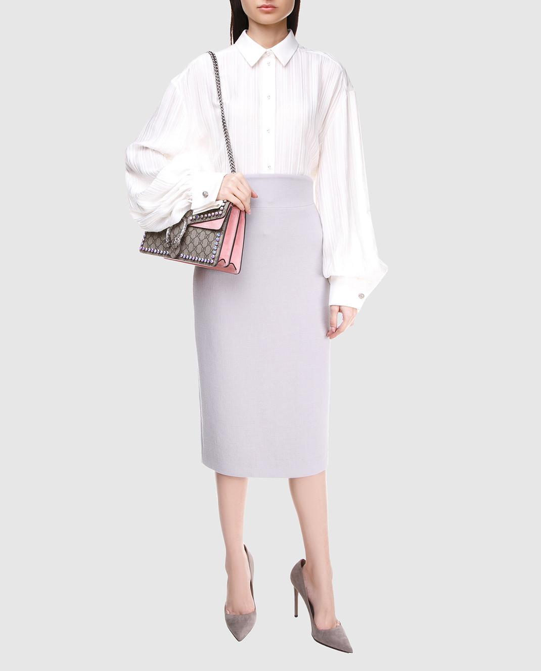 A la Russe Светло-серая юбка 371004 изображение 2