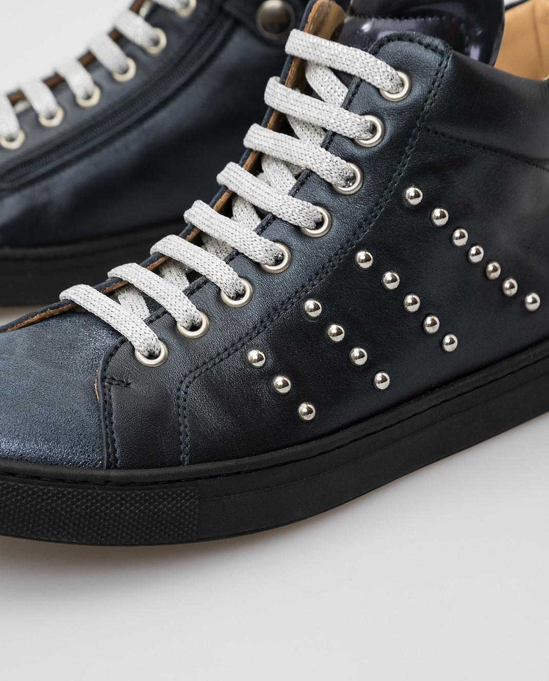 Zecchino D'oro Детские темно-синие сникеры F1545713639 изображение 4