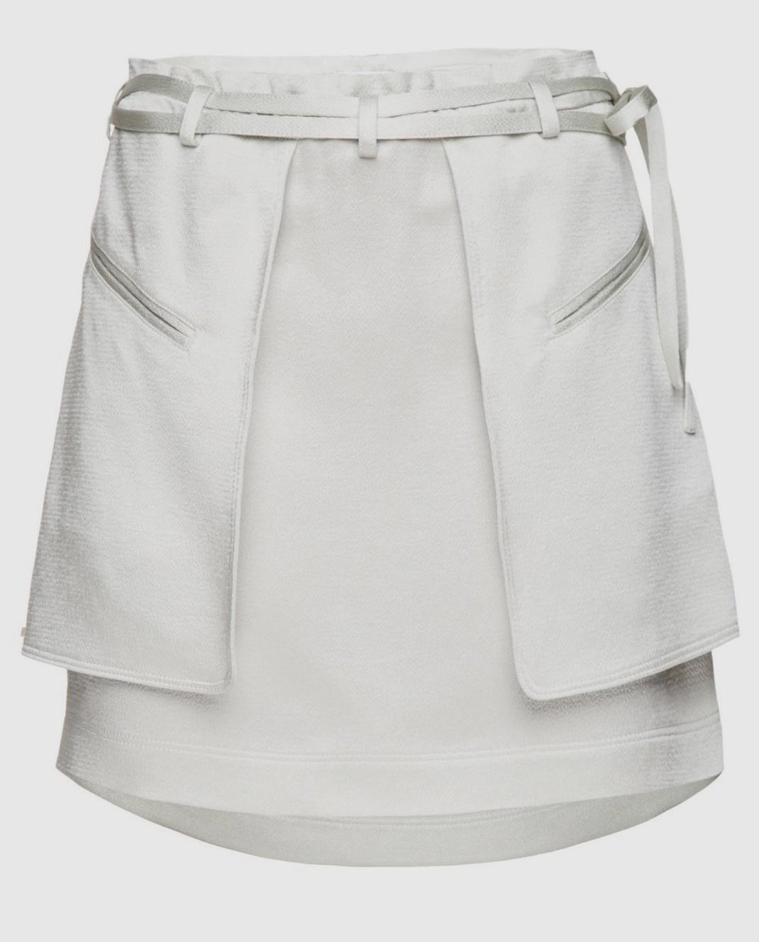 Valentino Светло-зеленая юбка PB0RA3K53H3