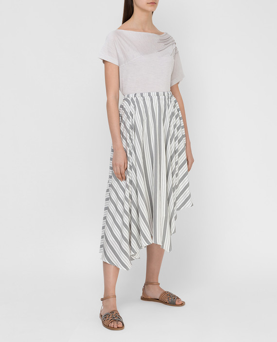 Белая юбка из шелка hover