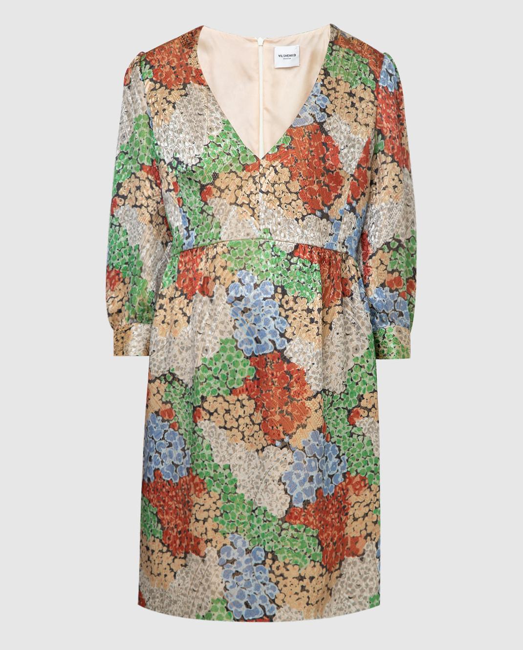 Vilshenko Бежевое платье 4335LSFLOWER