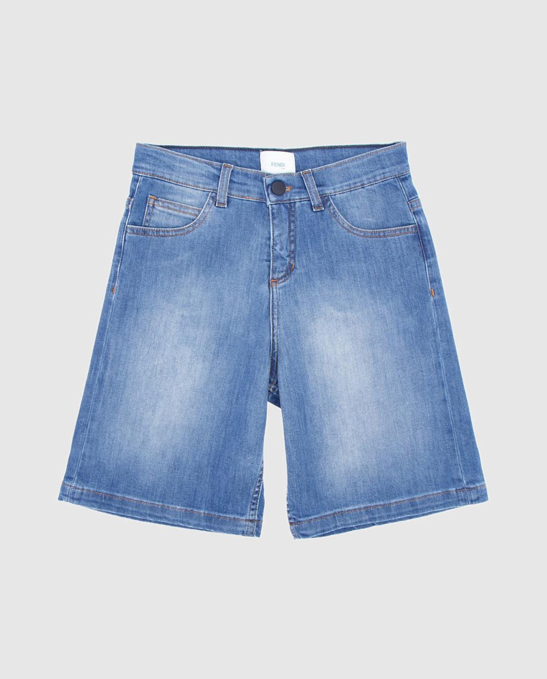 Fendi Детские голубые джинсовые шорты JMF1261012
