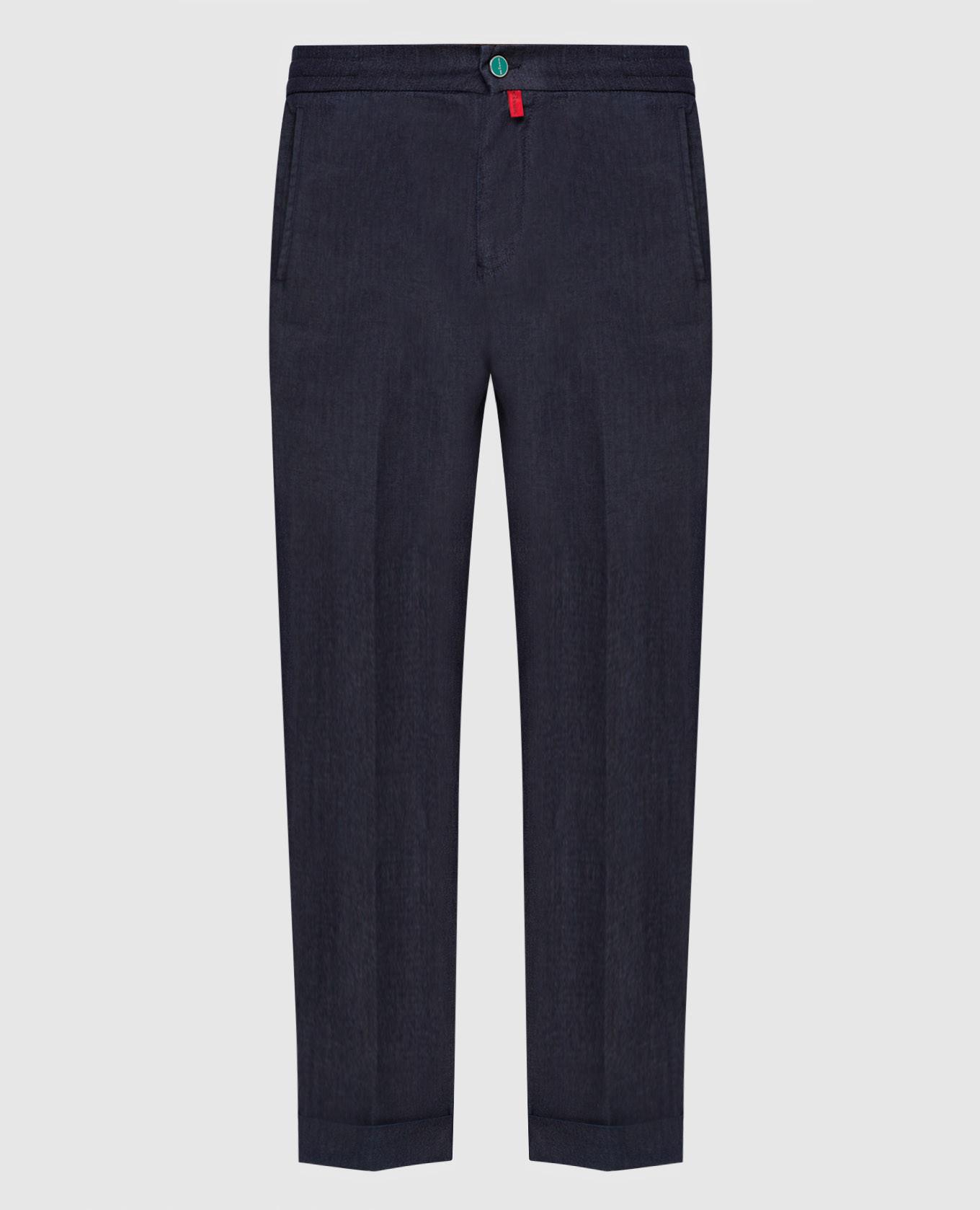 Темно-синие джинсы Kiton