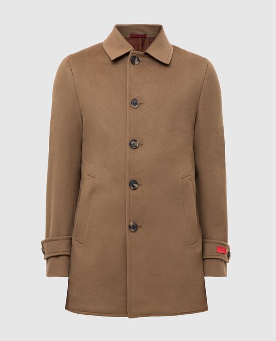 Бежевое пальто из шерсти