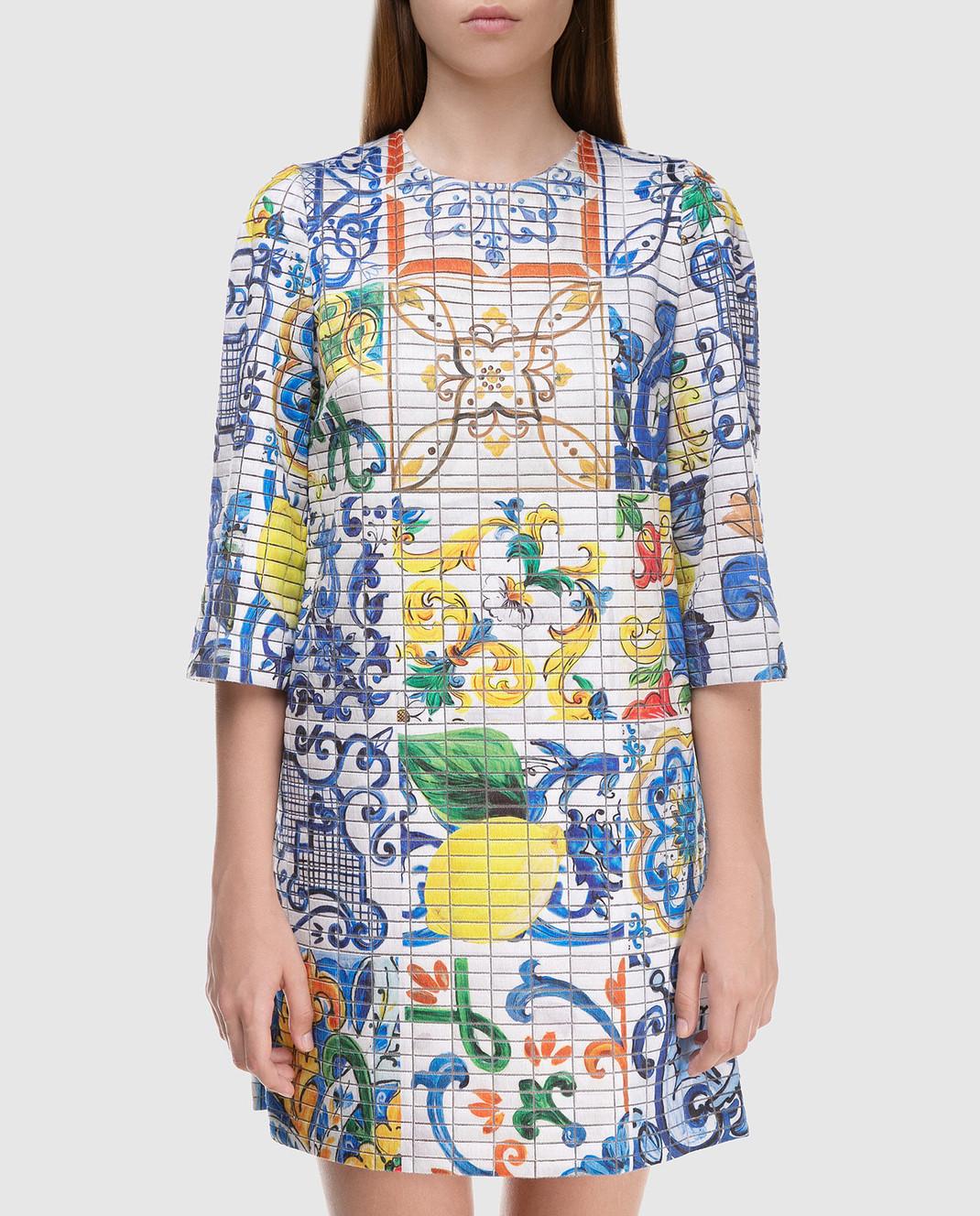 Dolce&Gabbana Платье из шелка F69U8THSMRW изображение 3