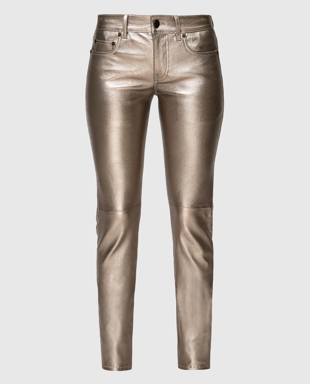 Saint Laurent Золотистые брюки изображение 1