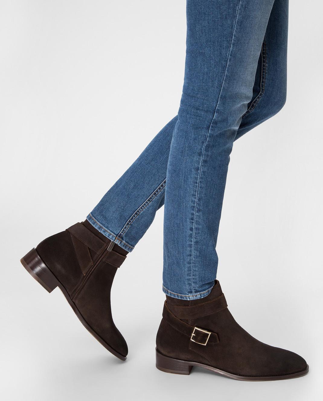 Doucal's Коричневые замшевые ботинки DD8252PATCUF083 изображение 2