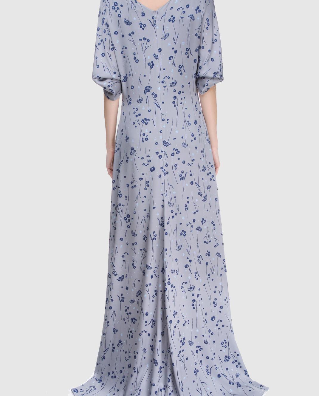 Alexander Terekhov Серое платье из шелка DE117 изображение 4