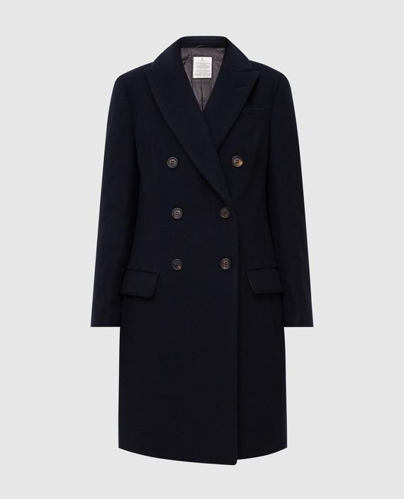 Темно-синие пальто из кашемира