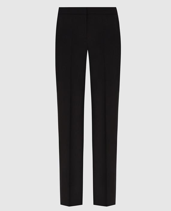 Черные брюки из шерсти