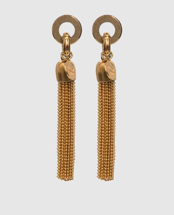 Золотистые серьги