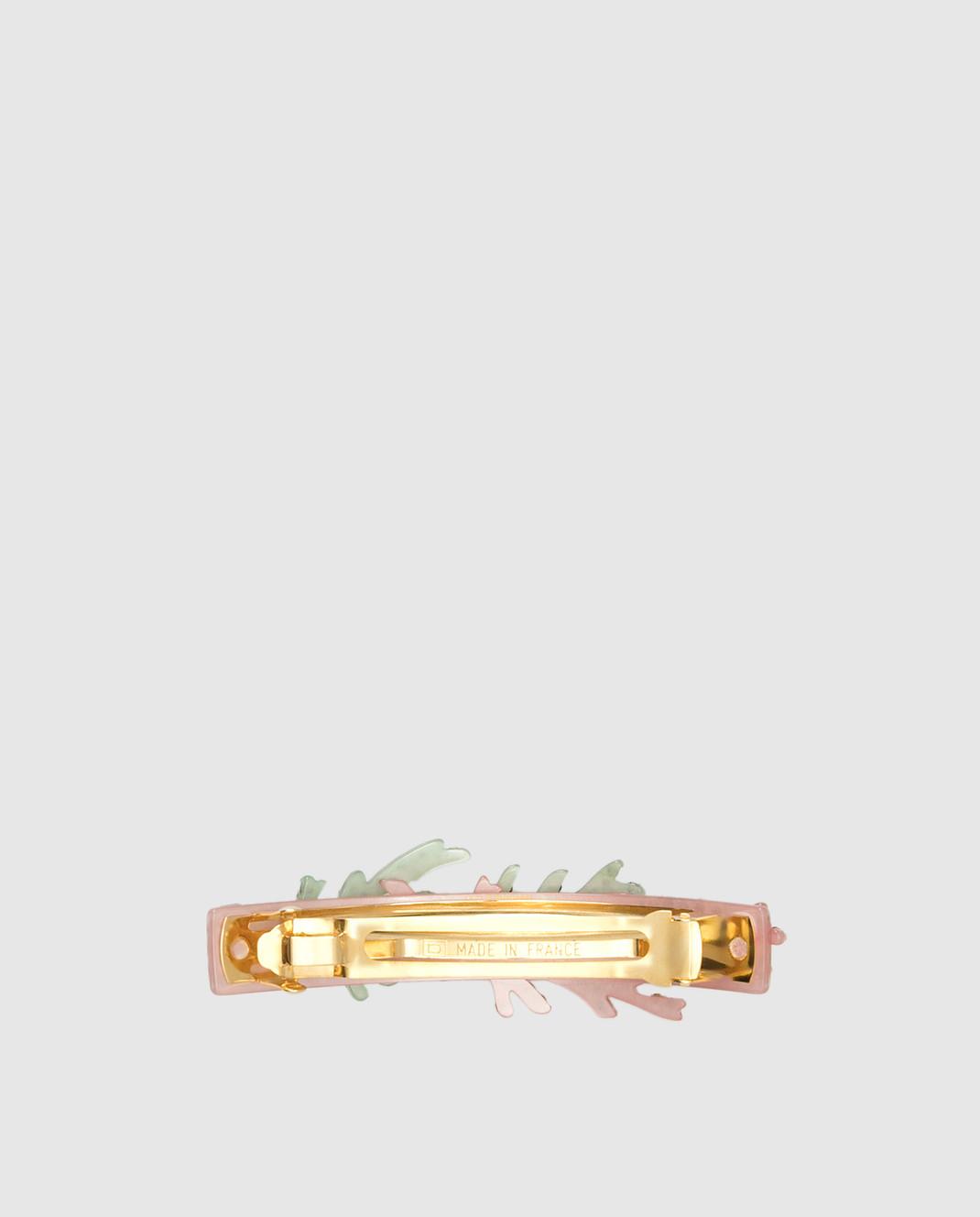 Davidian Розовая заколка с кристаллами Swarovski 95143 изображение 2