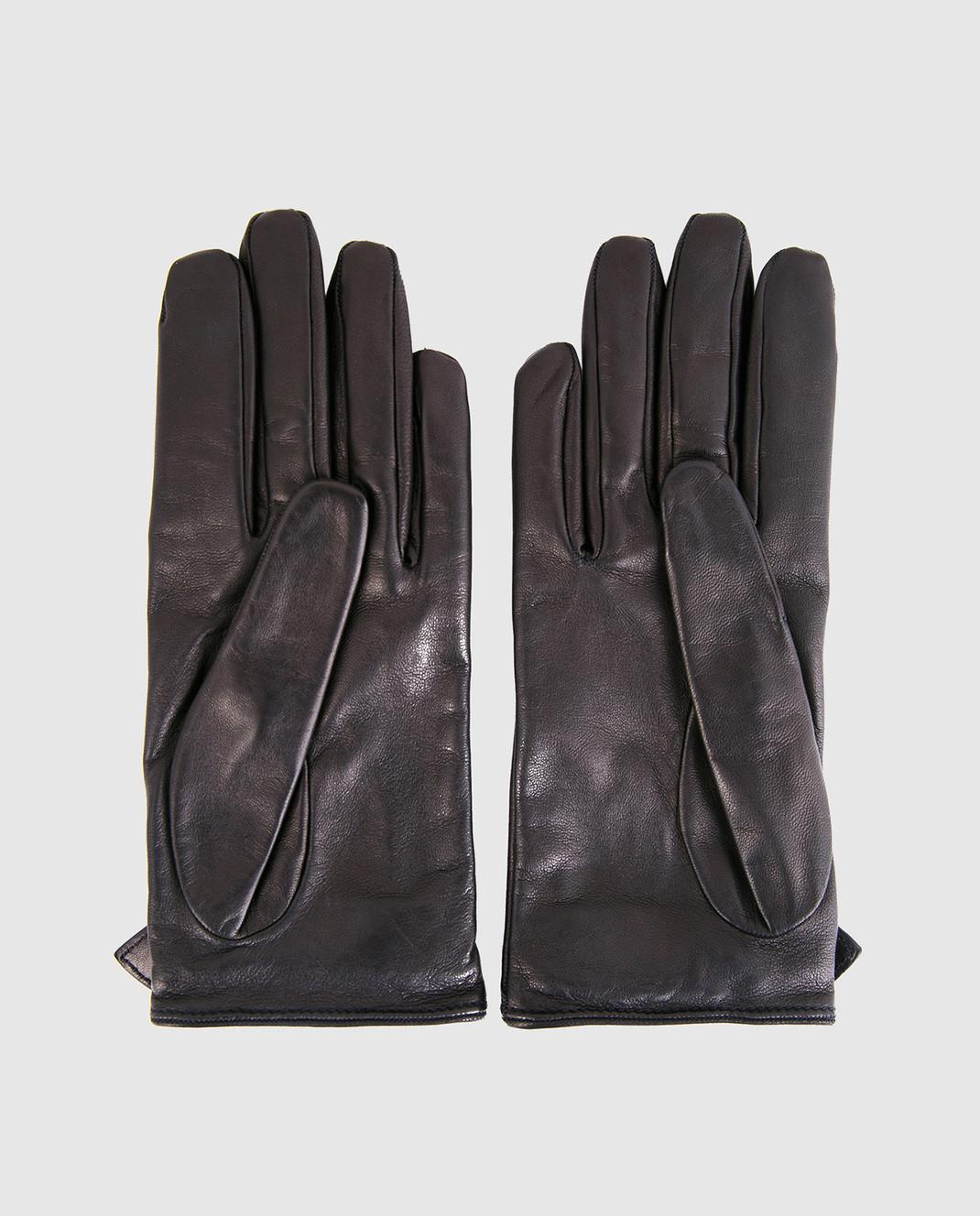 Gucci Черные кожаные перчатки 477968BAP00 изображение 2