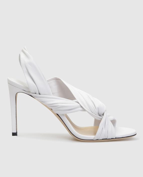 """Белые кожаные босоножки """"Lalia"""""""