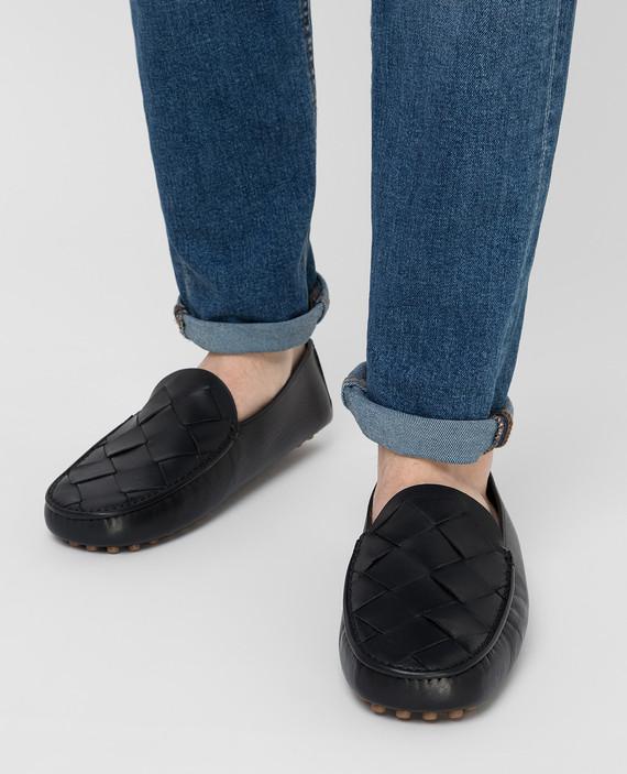 Черные кожаные мокасины hover