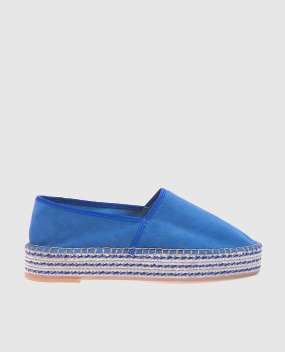 Синие замшевые эспадрильи