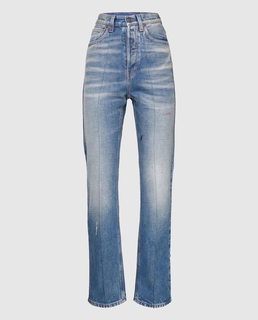 Gucci Синие джинсы с вышивкой 478020
