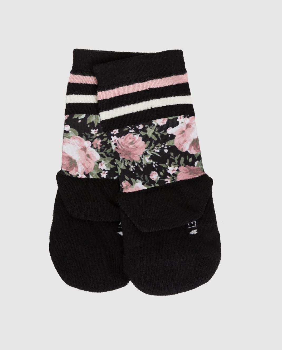 Twin Set Детские черные носки GA8ABN изображение 2