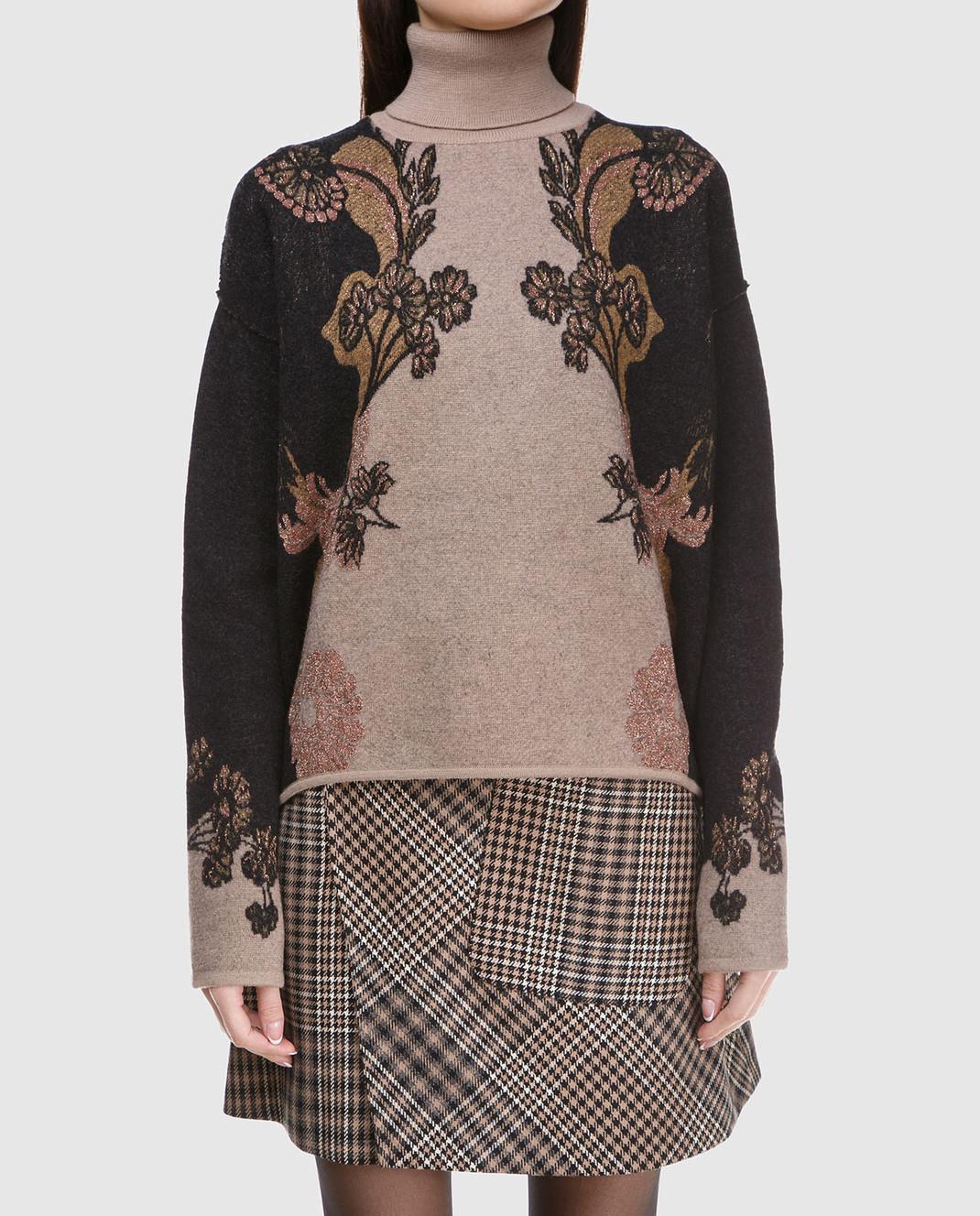 Etro Коричневый свитер из шерсти D156239303 изображение 3