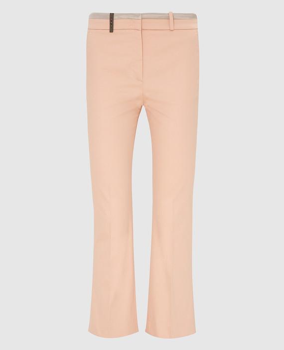 Персиковые брюки
