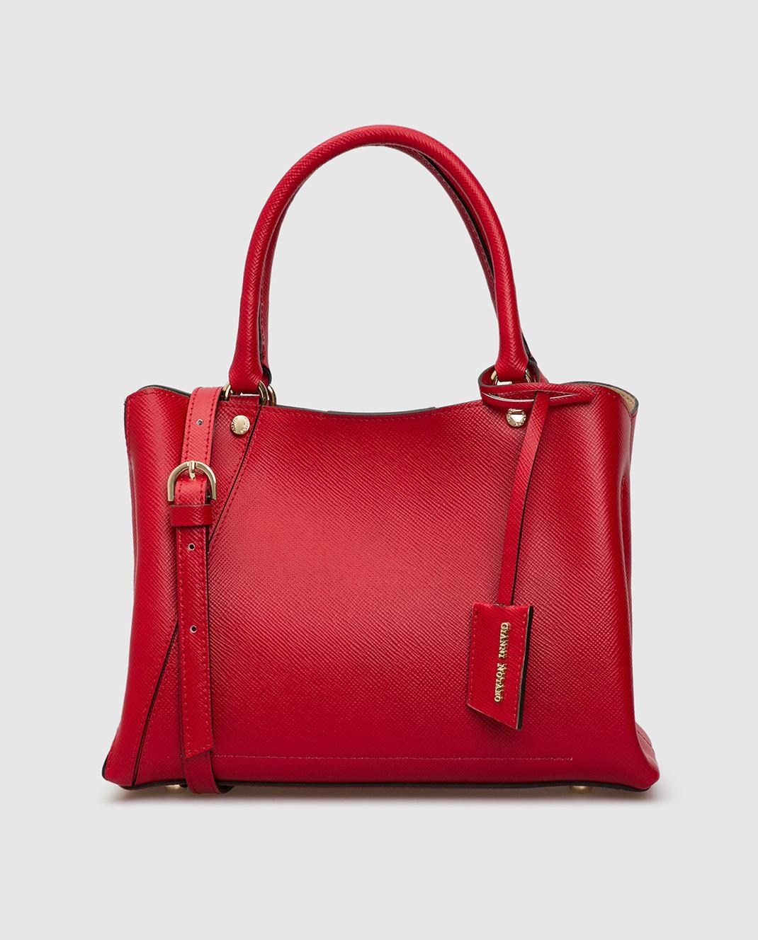 Gianni Notaro Красная кожаная сумка изображение 1