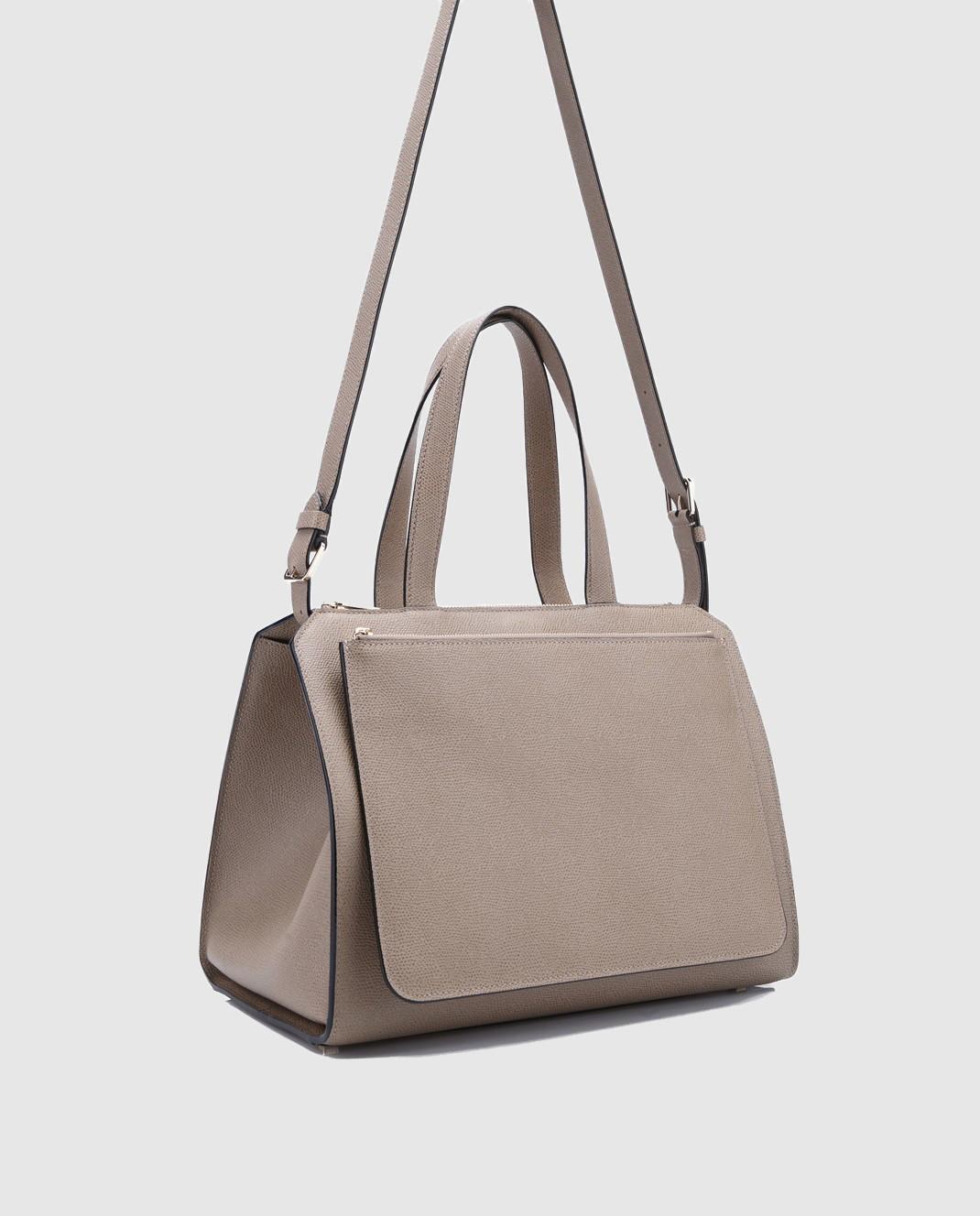 Valextra Бежевая сумка из кожи V5F31 изображение 3
