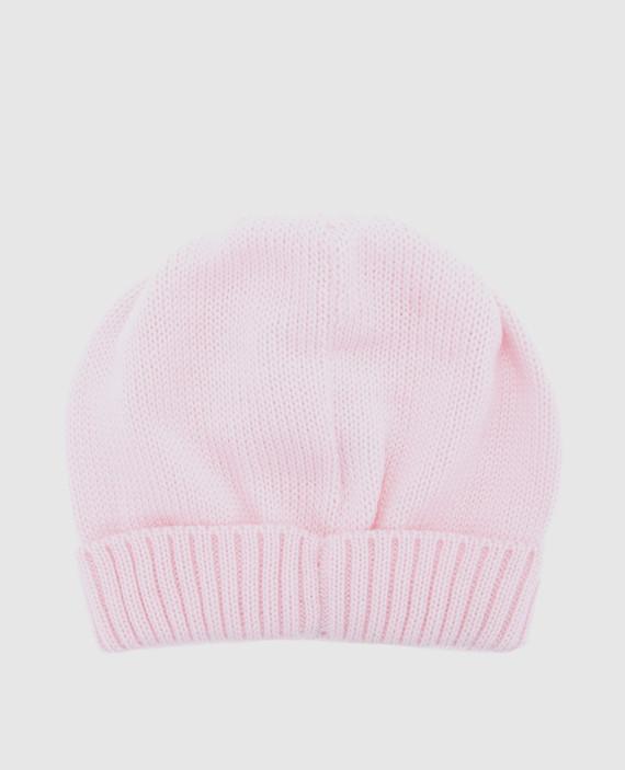 Детская розовая шапка hover