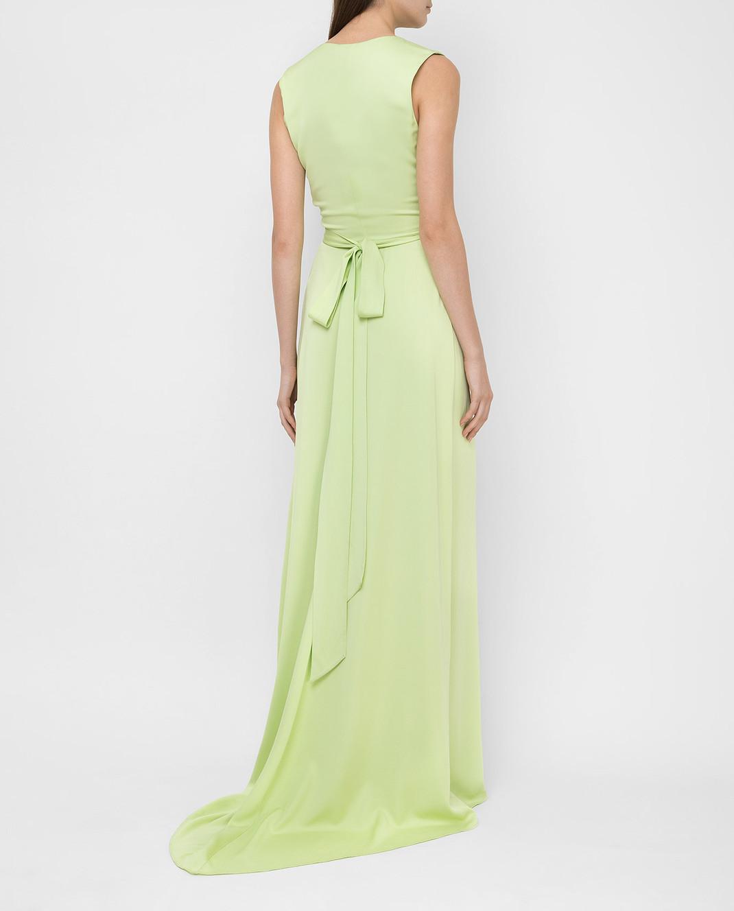 Ermanno Scervino Зеленое платье D282Q397DVY изображение 4