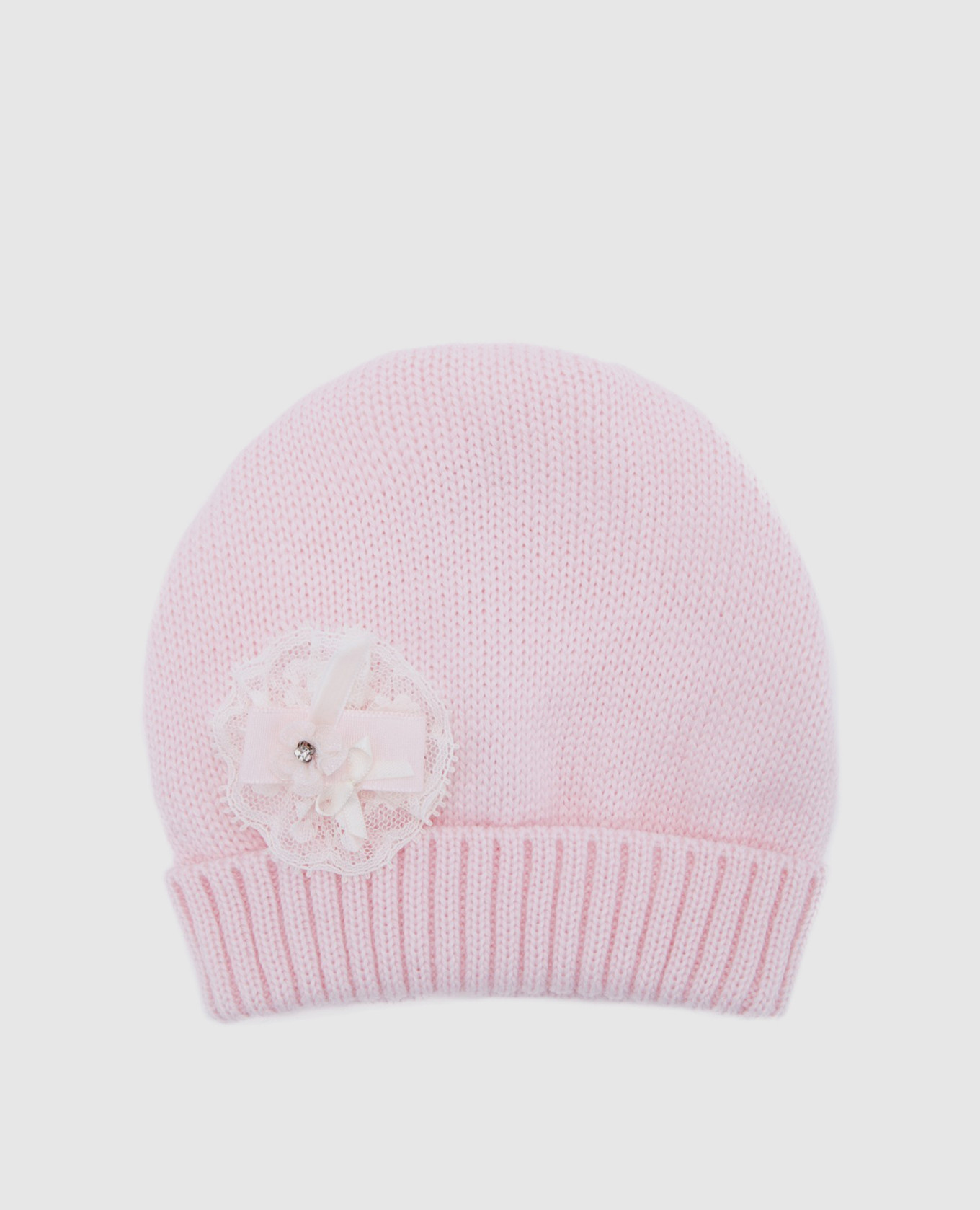 Детская розовая шапка