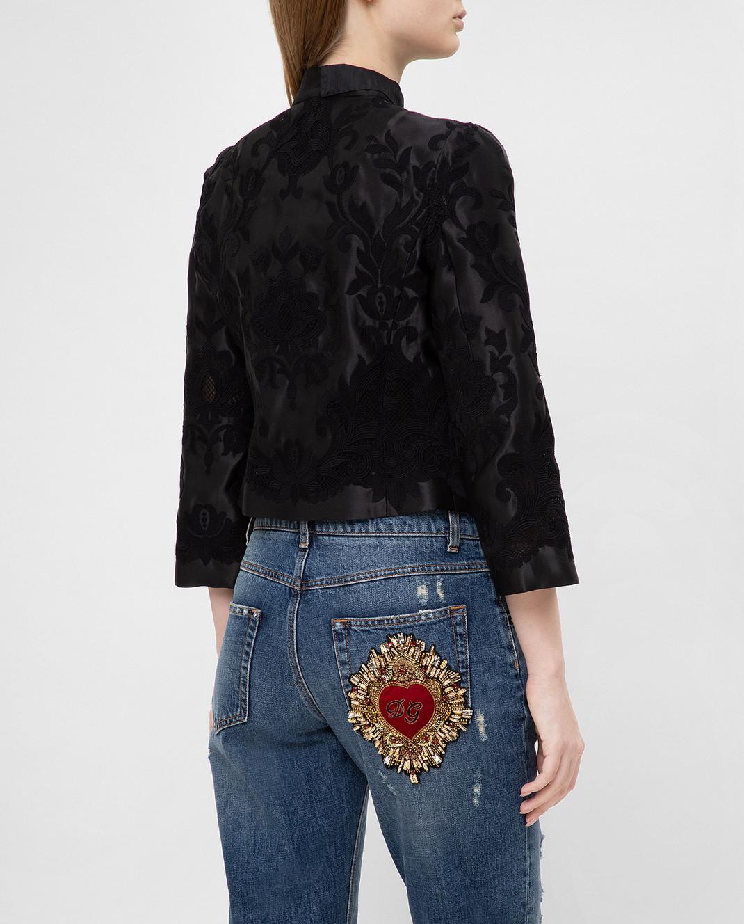 Dolce&Gabbana Черный жакет из шелка изображение 4