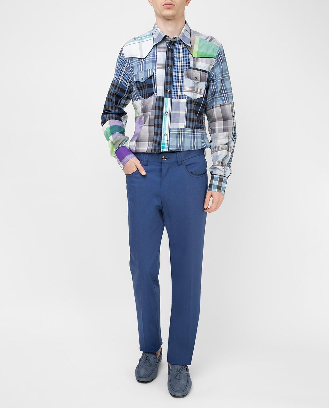 Stefano Ricci Синие брюки M1T8100020 изображение 2