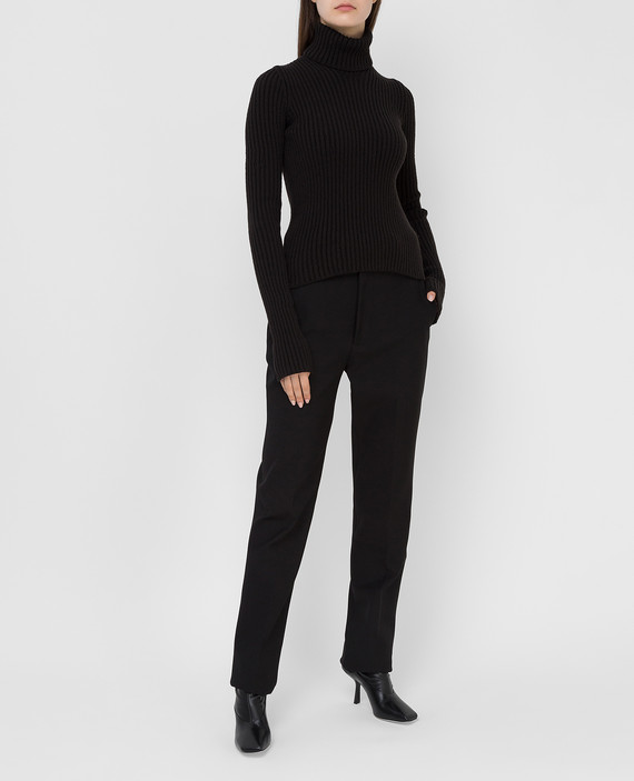 Темно-коричневый свитер из шерсти hover