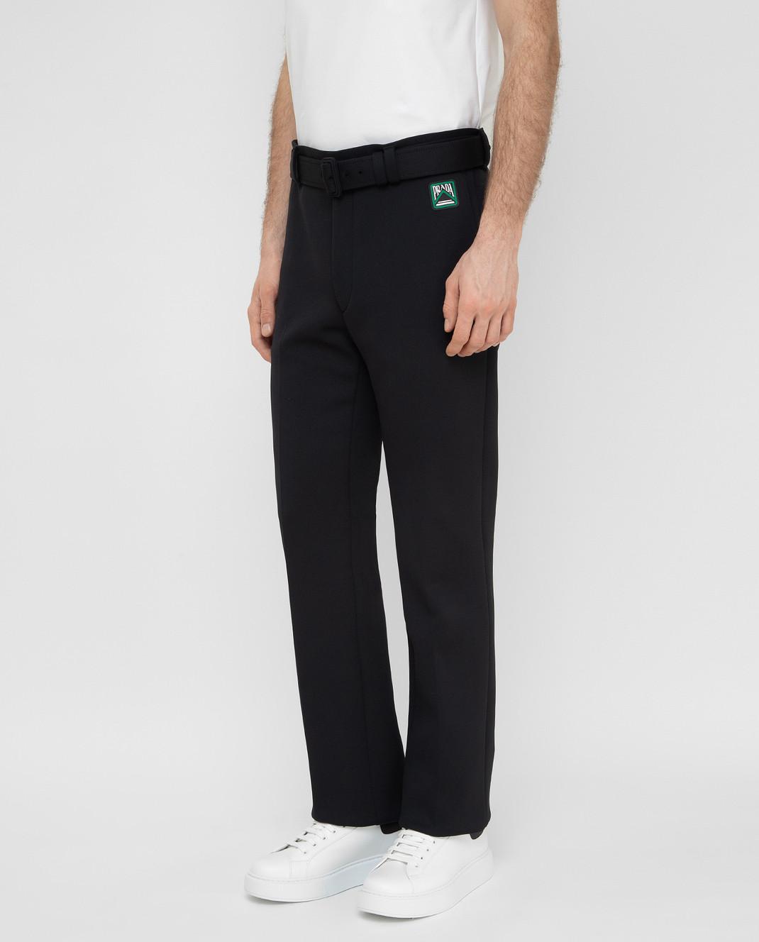 Prada Черные брюки UP00391TQX изображение 3