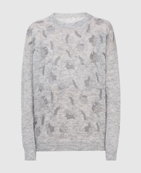 Светло-серый свитер