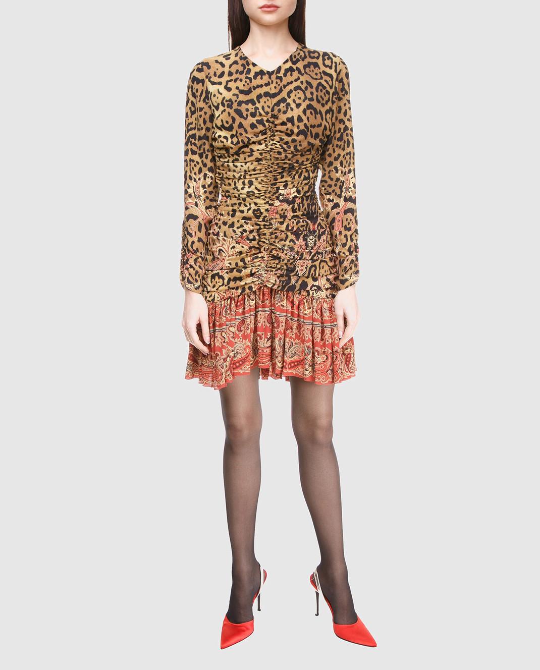 Etro Бежевое платье из шелка D152335384 изображение 2