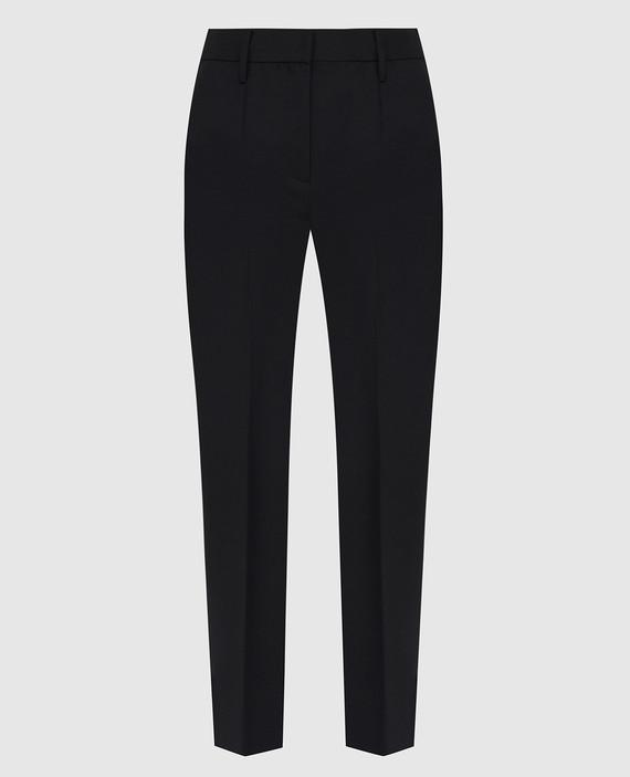 Черные брюки из мохера и шерсти