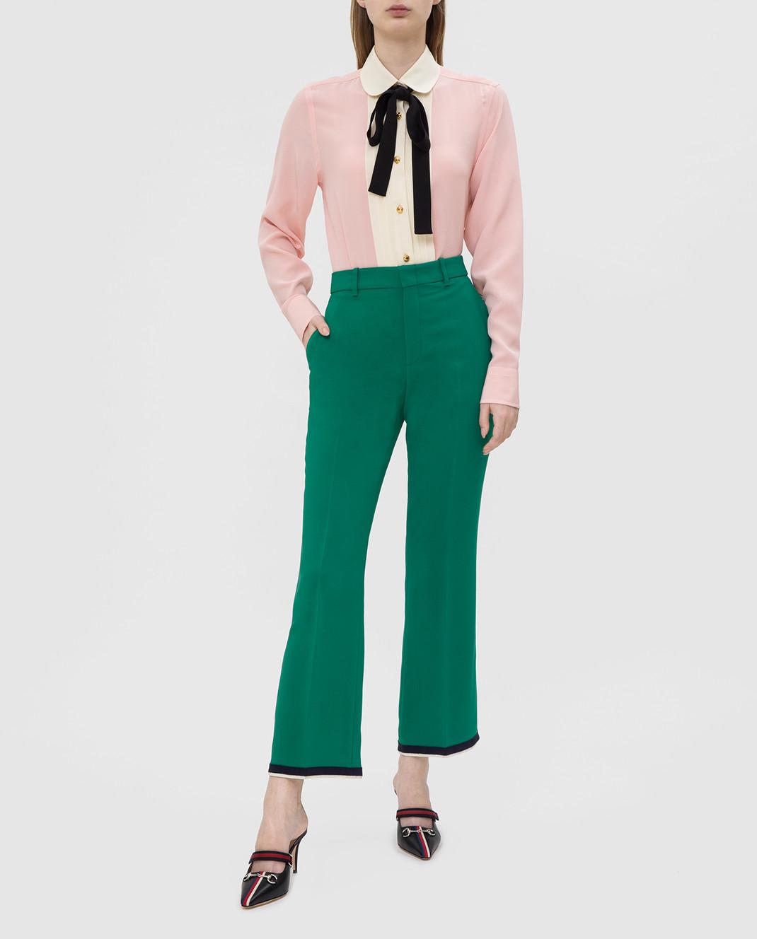 Gucci Розовая рубашка из шелка 544892 изображение 2