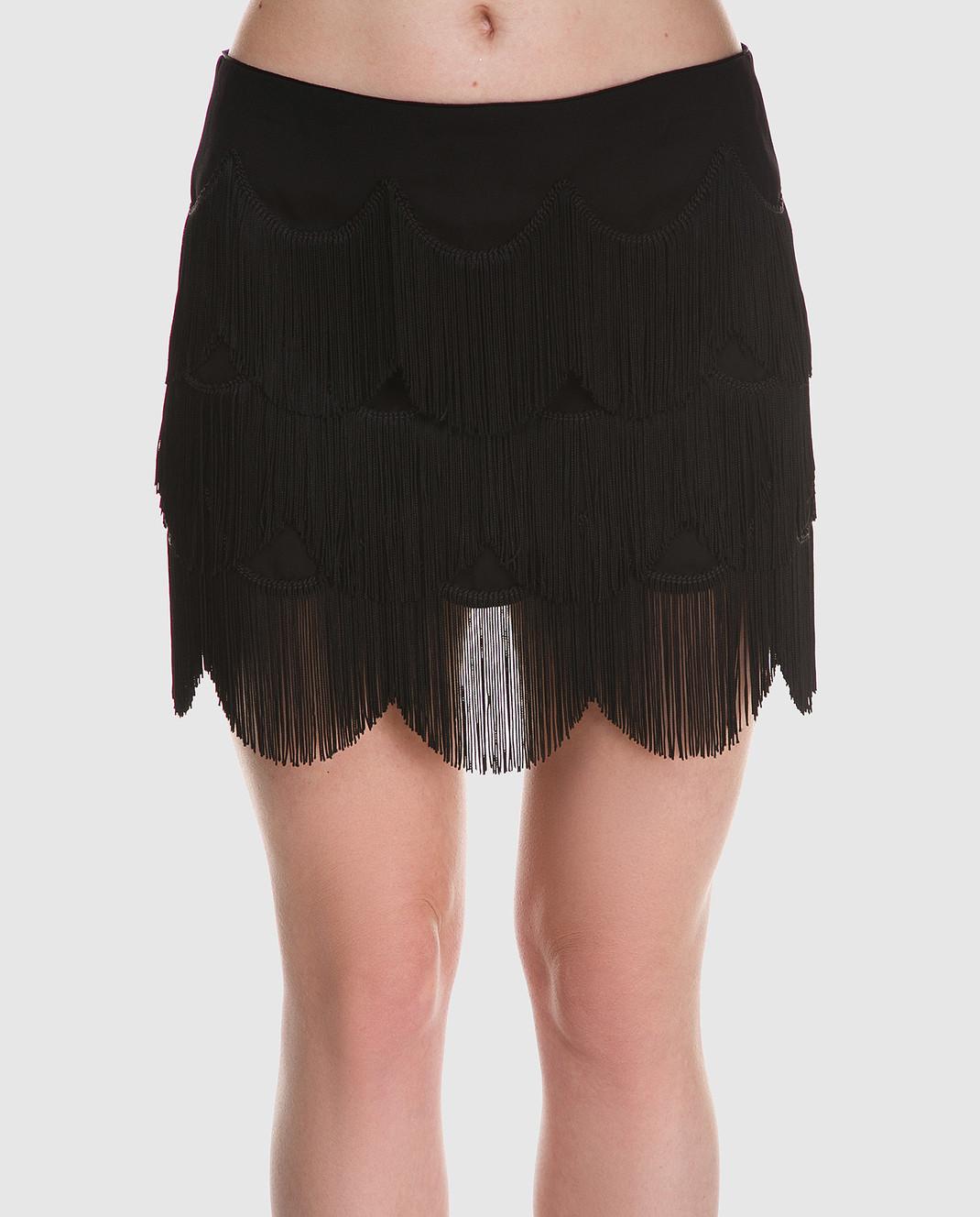 Marc Jacobs Черная юбка с бахромой M4007161 изображение 3